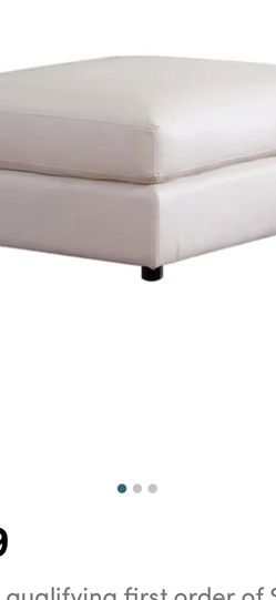 """White """"leather"""" Storage Ottoman From Wayfair for Sale in Long Beach,  CA"""