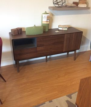 Mid century modern walnut finish tv stand MidinMod 4th of July sale!! for Sale in Houston, TX