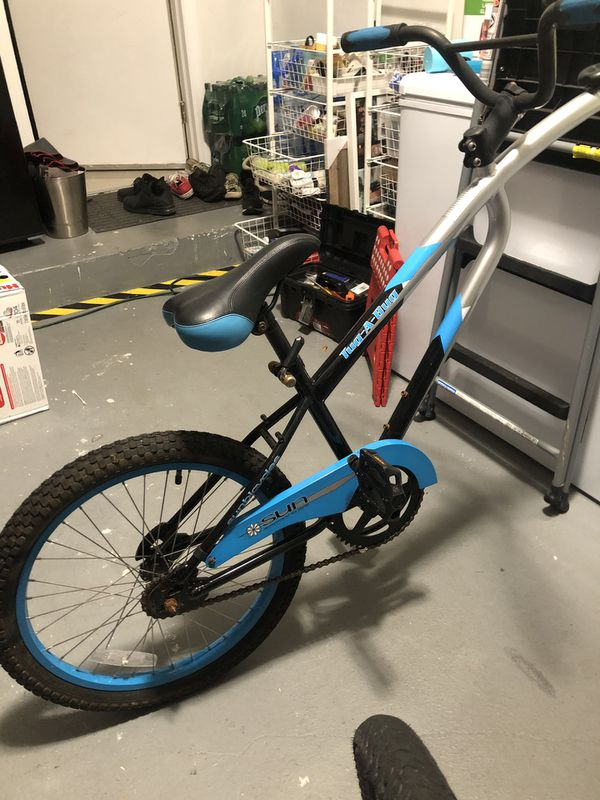 Tug a bug foldable trailer bike