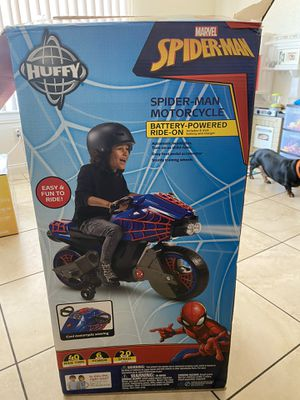 Spider-Man kids toy motorcycle for Sale in Redlands, CA