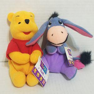 "Disney Winnie The Pooh & Eeyore 6"" Bean Bags Plush for Sale in La Grange Park, IL"