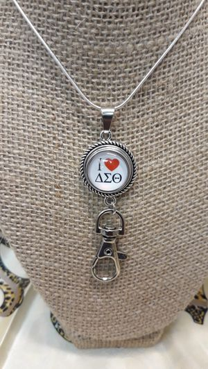 Delta Sigma Theta Necklace with Badge Holder ( SHIPPING ONLY) for Sale in Jacksonville, FL