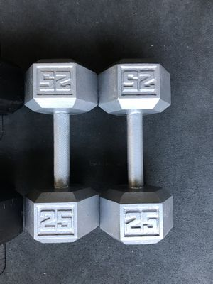 Hex Dumbbells (2x25s) for $35 Firm!!! for Sale in Burbank, CA