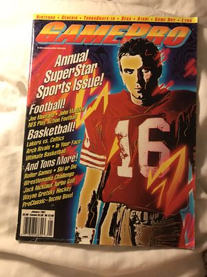 GamePro magazine January 1991 super star sports for Sale in Eau Claire, WI