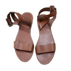 Madewell Boardwalk Leather Ankle Strap Sandals Size 10 for Sale in Redmond,  WA