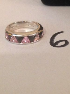 Pink black triangle silver ring for Sale in Nashville, TN