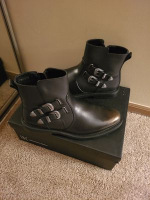 Outlaw boots black leather for Sale in Westerville, OH