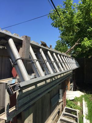 Ladders 30 foot and 20 foot . Plank 12 foot. for Sale in Cleveland, OH