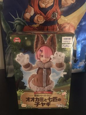 Re:Zero Fairytale Series Ram Wolf and Seven Little Goats FIGURE for Sale in Euless, TX