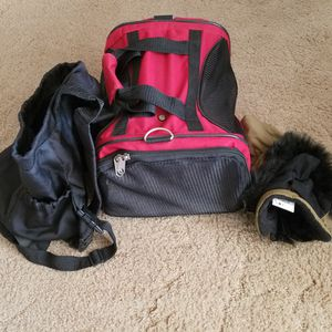 Small Dog Carrier, Outfit And Bag Carrier for Sale in Dinuba, CA