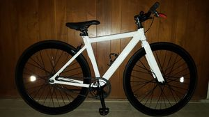 """NEW White Authentic Spider-Man Themed """"Custom"""" Feather-Weight Single Speed Alloy Fixie Bike XS/S Size 49 In Excellent Condition 10/10. for Sale in Los Angeles, CA"""