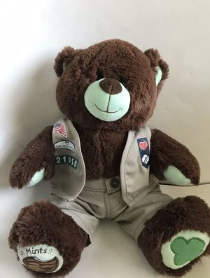 "Build A Bear Thin Mint Teddy BEar Girl Scouts Uniform Plush Stuffed Animal 18"". for Sale in West Palm Beach, FL"