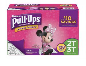 Huggies Pull Ups Training Pants, Learning Design Girls, 2T-3T, 128 Count for Sale in Miami Beach, FL