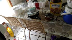 Glass table with 4 chairs for Sale in Monroe, LA