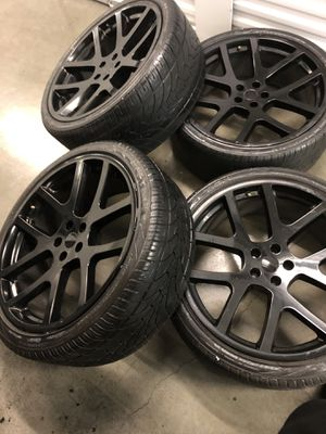 "Rines Dodge Charger challenger viper SRT10 magnum wheels rims tires 22"" satin black for Sale in Los Angeles, CA"