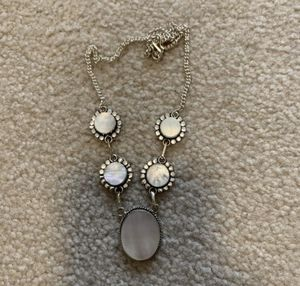 """New mother of pearls sterling silver 925 necklace 16-18"""" for Sale in Inverness, IL"""