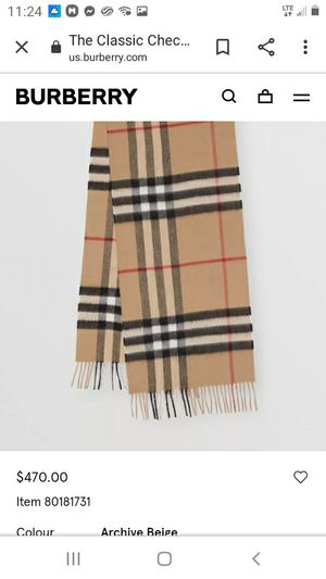 BURBERRY cashmere scarve for Sale in Cypress, CA