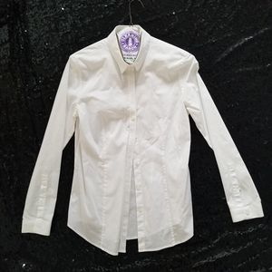 BURBERRY Long Sleeve Button Up White Dress Shirt size 8 for Sale in Colton, CA
