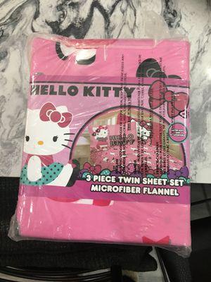 Hello Kitty 3 piece Twin Sheet microfiber flannel for Sale in Bellevue, WA