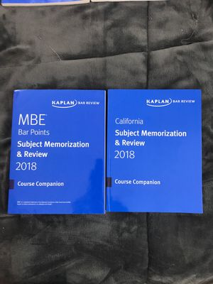 MBE & California Subject Memorization for Sale in Erie, PA