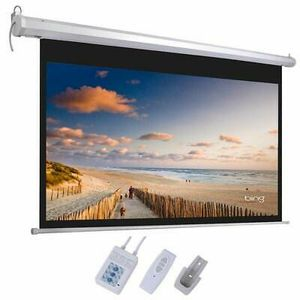 72/92/100 inch 16:9 Electric Motorized Indoor Projector Screen + Remote for Sale in Torrance, CA