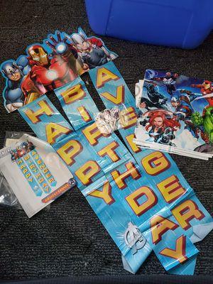 Avengers birthday party decor for Sale in Pomona, CA