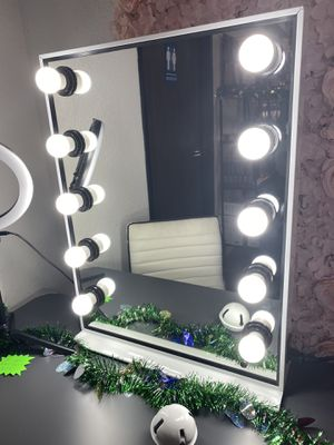 """💋💄💡26"""" x 20"""" Hollywood Style LED Vanity Mirror with Dimmable Light Bulbs for Makeup Vanity Table Set in Dressing Room💋💄💡 for Sale in Chino, CA"""