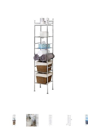 Honey-Can-Do 6-Tier Bathroom Storage Shelving Unit, Chrome for Sale in Bakersfield, CA
