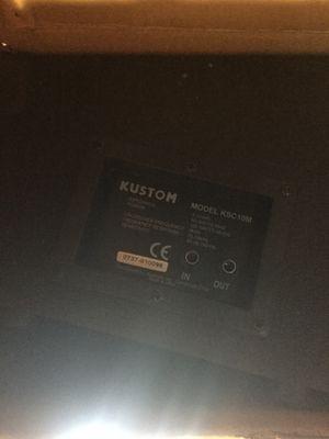 """10"""" kustom monitor speaker cabinet for Sale in Manassas, VA"""