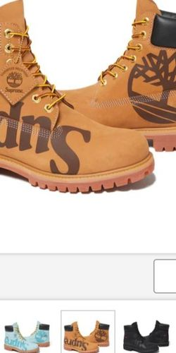 Supreme/Timberland Big Logo Waterproof Boot Wheat - Size 11 - **ORDER IN HAND!** for Sale in Sloan,  NV