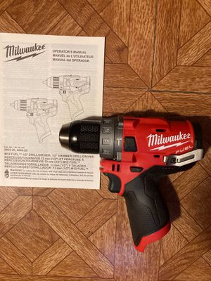 """Milwaukee. M12 FUEL Lithium Ion 1/2"""" Brushless Cordless Hammer Drill Driver (Tool Only). 2504-20. for Sale in Brooklyn, NY"""