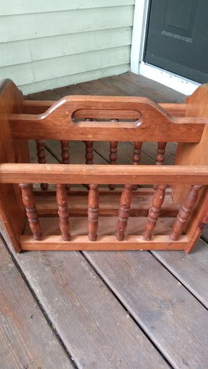 Oak Magazine Rack for Sale in Port Huron, MI