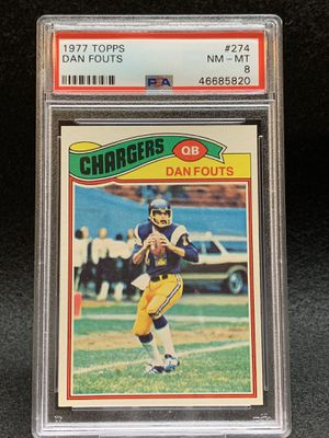 1977 Topps ⚡️ Dan Fouts ⚡️ PSA 8 mint - Chargers for Sale in Santee, CA