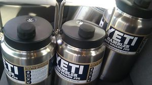 Yeti one gallon jugs two of them and two half gallon jugs the one gallon jugs worth 129.99$ the half gallon jugs 99.00$ at Lowe's value of 460.00$ for Sale in Stockton, CA