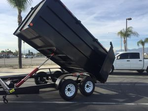 !NEW DUMP TRAILER 8x12x4 12000lb Gvw $5150 Cash only buy direct factory for Sale in Westminster, CA