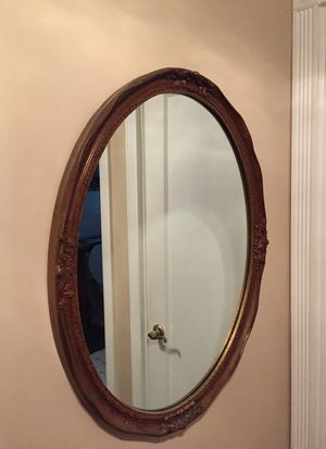 Gold Leaf Oval Wall Mirror for Sale in Ben Avon, PA