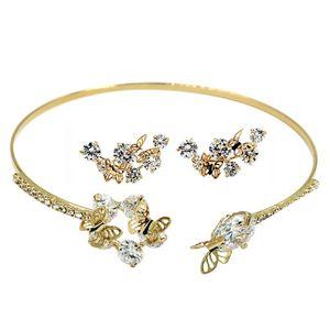 Golen mini butterfly earrings bracelet set for Sale in Atherton, CA