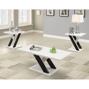 Coaster - White - 3Pc - Living Room Table Set. for Sale in Tampa, FL