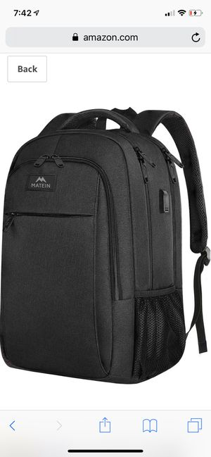 Business Travel Backpack, Matein Laptop Backpack with USB Charging Port for Men Womens Boys Girls, Anti Theft Water Resistant College School Bookbag for Sale in Kansas City, MO