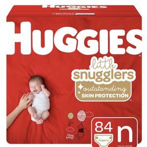 Huggies Little Snugglers Diaper Super Pack - Size Newborn, 84ct for Sale in El Monte, CA