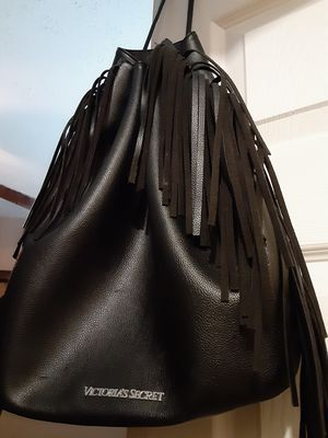 Victoria Secrets black fringed leather backpack for Sale in Indianapolis, IN