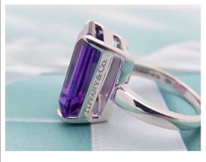Tiffany's & Co 8.5ct Amethyst Sparklers ring. Size 6 for Sale in Turlock, CA