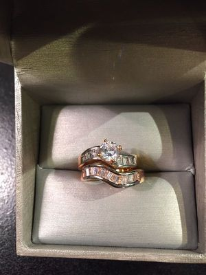 18K Gold plated Wedding / promise Ring Set- Diamond 💍 for Sale in Houston, TX