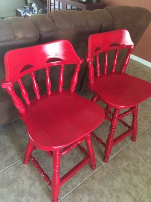 "SOLID WOOD SWIVEL BAR STOOLS 37"" TALL for Sale in Cape Coral, FL"