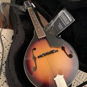 Rogue RM-100A A-Style Mandolin Sunburst Folk String Instrument + Padded Soft Travel Storage Case for Sale in Houston, TX