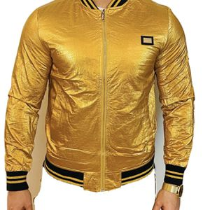 Brand new Gold winter Unisex bomber jacket in all sizes available for Sale in Los Angeles, CA