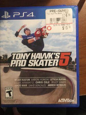 Tony Hawk's Pro Skater 5 PS4 game for Sale in Montpelier, VA