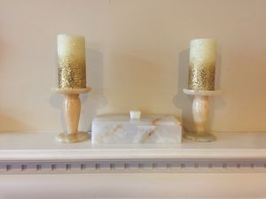 Marble Jewelry Box & Candle Holders Set for Sale in Hanover, MD
