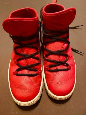 Nike Jordan Galaxy Gym Red Leather Air Jordan Basketball Shoes US 8 UK 7 EU 41 for Sale in Penn Valley, PA