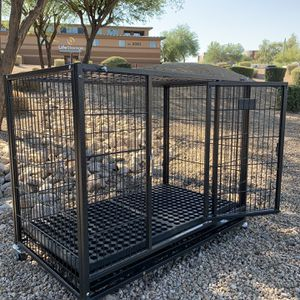 New HD Kennel w/ washable RUBBER MAT🙀 🐶 Plastic tray 🐶 castors 🐶 dimensions In second picture🇺🇸 Portable👌 Safe👌sturdy💪easy to clean👌FRENCHIE for Sale in Tempe, AZ